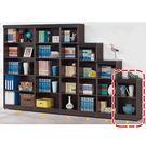 【森可家居】威爾胡桃1.3尺二格櫃 8SB244-7 開放書櫃 置物櫃