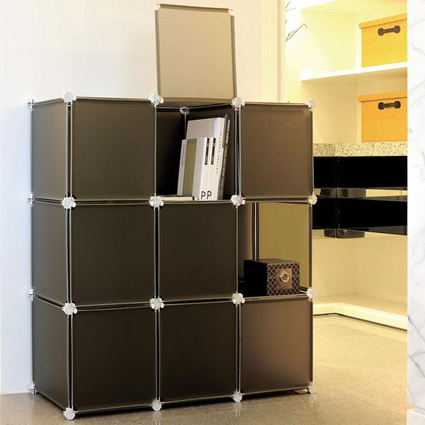 【H&R安室家】9格9門收納櫃-12吋百變收納櫃/組合櫃-HP59A