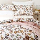 HOLA home 花舞舒絨床包兩用被組 雙人