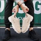 馬丁靴 2021冬新款透氣馬丁靴男鞋低幫休閒皮鞋男運動鞋子男工裝靴潮鞋【快速出貨八折鉅惠】