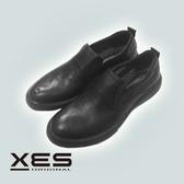 XES圓頭休閒便鞋 男款 黑色