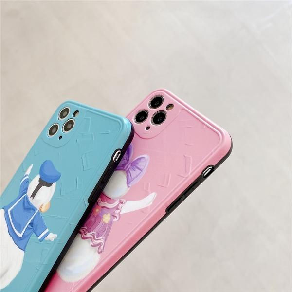 iPhone11ProMax 蘋果手機殼 可掛繩 大屁屁唐老鴨黛西 矽膠軟殼 iX/i8/i7/SE