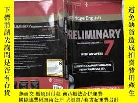 二手書博民逛書店Cambridge罕見English Preliminary 7 Student s Book Pack (Stu