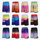 運動籃球褲男女夏季五分褲運動褲跑步寬鬆休閒短褲【小酒窩】