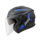 【東門城】ZEUS ZS613B AJ10(消光黑藍) 半罩式安全帽 雙鏡片