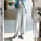 運動褲 春裝搭配顯高直筒闊腿休閒運動褲女裝穿搭拖地褲衛褲 618購物節