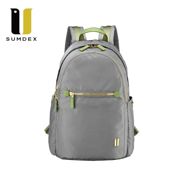 SUMDEX   輕巧雙層後背包 NOD-775CK灰色