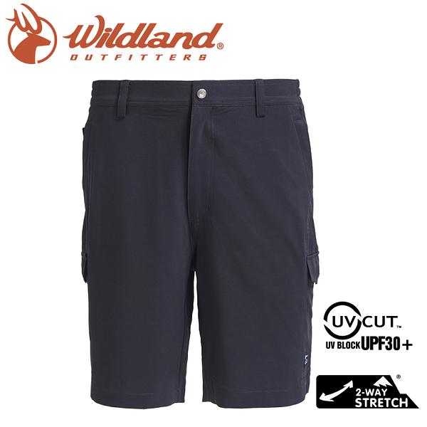 【Wildland 荒野 男 彈性抗UV貼袋短褲《鐵灰》】0A71390/運動褲/馬褲/防曬/彈性