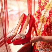 婚鞋女高跟防水台