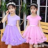 女童連衣裙超洋氣夏季2020新款韓版公主裙蓬蓬紗兒童純棉短袖裙子『蜜桃時尚』