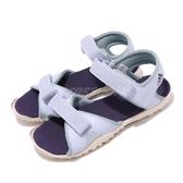 adidas 涼鞋 Sandplay OD K 紫 黑 魔鬼氈 涼拖鞋 基本款 童鞋 中童鞋【PUMP306】 BC0704