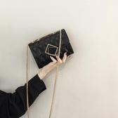 斜背包 網紅包包女2020新款女包洋氣時尚小方包流行鏈條斜挎包