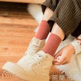 襪子女中筒襪韓版學院風堆堆襪個性薄純棉百搭韓國春秋冬季潮長襪 至簡元素