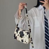 手提包 奶牛腋下法棍女包手提小包2020韓版新款百搭小眾單肩斜挎小包