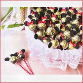 米奇米妮金莎巧克力棒X100支+大提籃X1個-情人節聖誕節 生日分享 慶生 婚禮小物