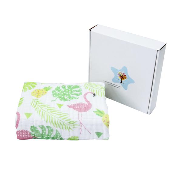 Muslin tree嬰兒6層無熒紗布包巾 嬰兒蓋毯空調被-JoyBaby