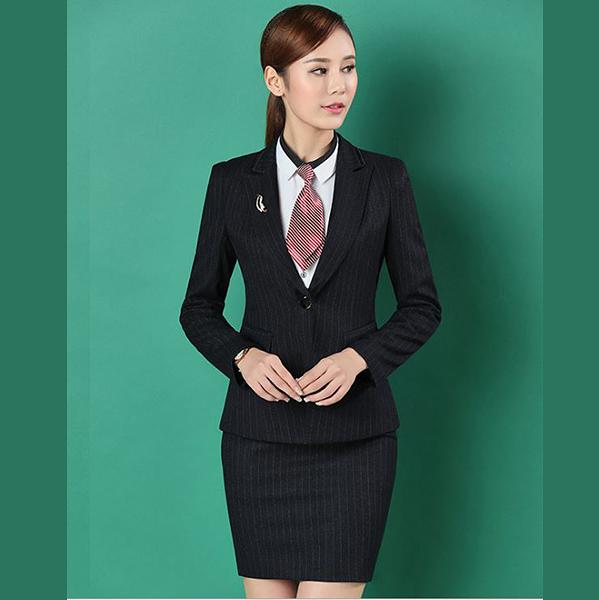OL套裝~*艾美天后*~西裝外套+裙or褲 時尚條紋套裝職業裝