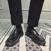 皮鞋男休閒百搭增高英倫男士商務正裝皮鞋【愛物及屋】