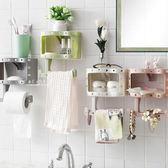 多功能浴室紙巾收納置物架 毛巾架 紙巾架 置物架 浴室收納架 無痕貼置物架
