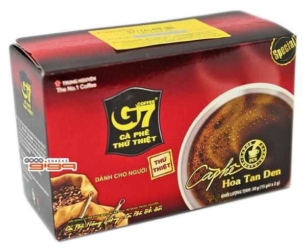 【吉嘉食品】G7 純咖啡 每盒15入(單包2公克),產地越南,黑咖啡,即溶咖啡 [#1]{8935024120187}