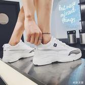 中大尺碼夏季新款男低幫休閑鞋男士運動透氣板鞋sd567【衣好月圓】