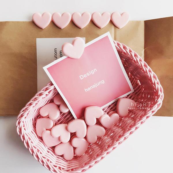 粉紅愛心裝飾夾文件夾 照片夾 夾子 整理夾 發票夾 固定夾