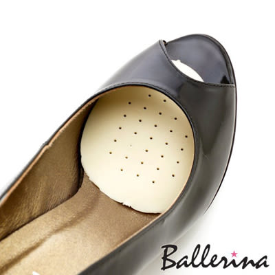 Ballerina-蛋型柔軟透氣橡膠半墊(6對入)