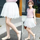 女童輕薄半身裙 女兒童花邊裙短裙子