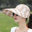 太陽帽女大帽檐夏季防曬大沿遮陽帽遮臉時尚百搭可折疊【橘社小鎮】
