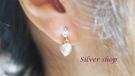 Silver shop 純銀 925 耳環 [ se 045 ]