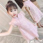 女童連衣裙旗袍裙夏裝公主裙洋氣小女孩女寶寶童裝兒童裙子夏季