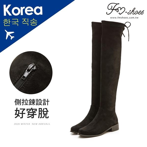 靴.後綁帶彈性膝上長靴-大尺碼(限宅配)-FM時尚美鞋-韓國精選.Morning