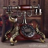 歐式仿古電話機美式復古辦公家用電話機時尚創意固定無線座機QM 美芭