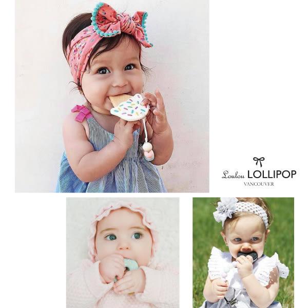 加拿大 Loulou lollipop 微笑漢堡固齒器組/奶嘴鍊夾~麗兒采家