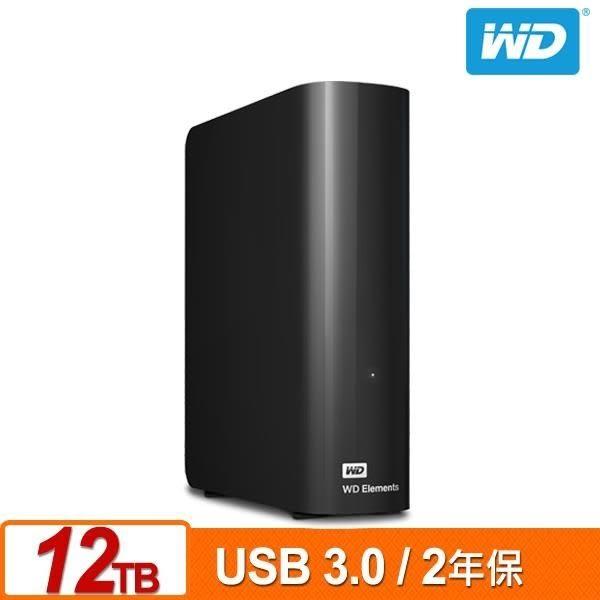 全新WD Elements Desktop 12TB 3.5吋外接硬碟(SESN)