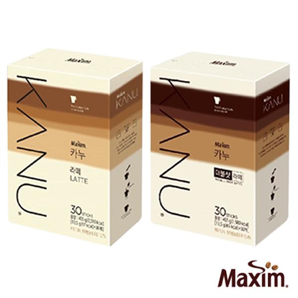 韓國 MAXIM麥心 KANU 孔劉中焙無糖拿鐵系列 原味/雙倍濃縮 (13.5g×30入/盒) 孔劉咖啡 漸層包裝 kanu咖啡