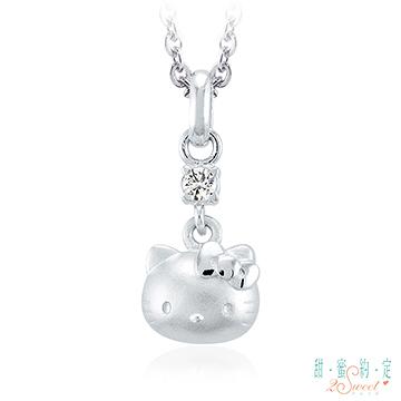 Hello Kitty凱蒂貓-珍藏之心-銀飾墜子