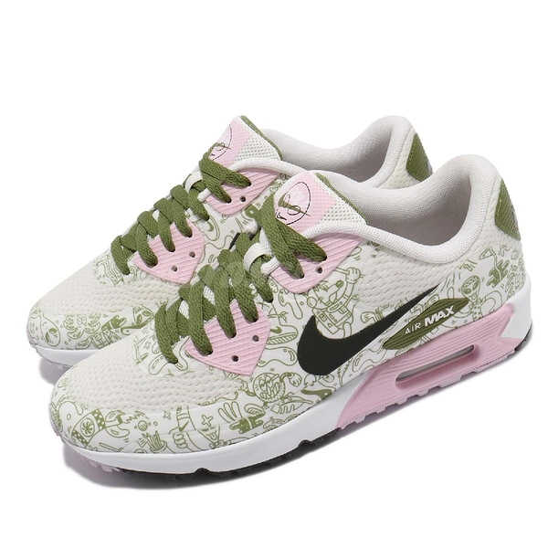 Nike 高爾夫球鞋 Air Max 90 G NRG Golf 綠 粉紅 男鞋 氣墊 【ACS】 CU9980-100