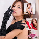 HA0001紅  時尚迷人表演手套 婚紗禮服手套 網紗/蕾絲手套/皺褶手套/造型手套