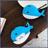 蘋果 AirPods 保護套 小鯨魚 Apple藍牙耳機盒 保護套 矽膠 軟殼