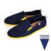 【VERBENAS】Tabarca塔巴卡牛皮草編鞋/男仕休閒鞋  深藍(004-BL)