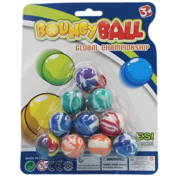 10入小彈力球 25mm 彈跳球 童玩 G10/一卡10顆入{促40} 跳跳球 橡膠球玩具~奇
