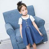女兒童夏季連衣裙背帶傘裙4韓版百搭牛仔裙洋氣 LQ5646『miss洛羽』