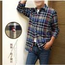 【大盤大】(S70323) 男 格子襯衫 M-2XL 口袋 長袖襯衫 格紋 法蘭絨襯衫 輕刷毛 上班族 商務 工作