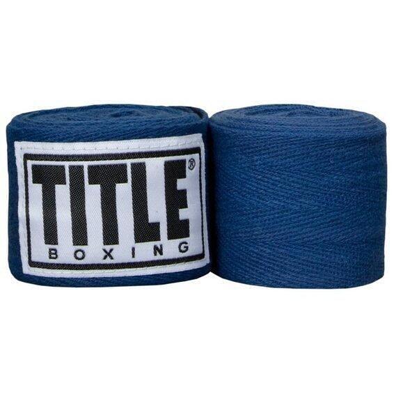 『VENUM旗艦館』TITLE 拳擊手綁帶 手繃帶 纏手 300cm 藍色 一組