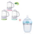 【奇買親子購物網】Nac Nac多功能調乳器(綠/粉/藍)+Nuby Comfort 寬口徑防脹氣矽膠奶瓶 150ml