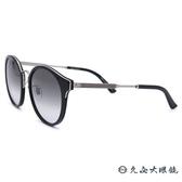 GUCCI 太陽眼鏡 GG0588SA (黑-銀) 日本製 圓框 墨鏡 久必大眼鏡
