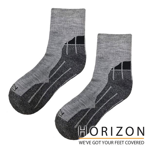 【HORIZON】MERINO QUARTER 美麗諾羊毛襪 HO-2224『淺灰/灰/黑』戶外 露營 休閒 保暖襪 羊毛