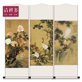 捲軸畫壁畫 清祺書 中式禮品仿古字畫 會所玄關裝飾國畫花鳥掛畫捲軸畫框畫 鉅惠85折