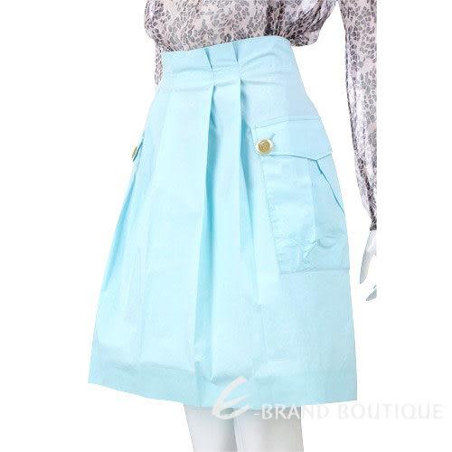 VALENTINO 水藍色抓褶口袋及膝裙 0810456-27